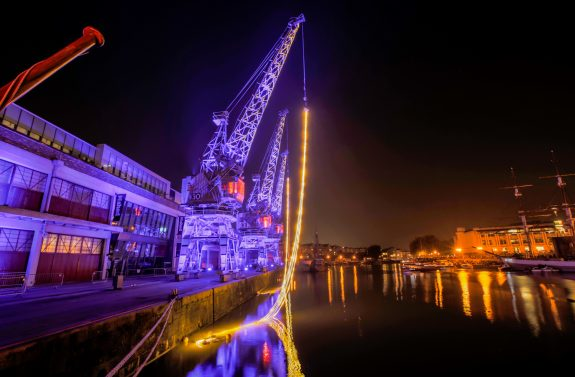 CRANE DANCE Bristol Harbour